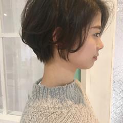 大人可愛い ナチュラル 丸みショート ショート ヘアスタイルや髪型の写真・画像