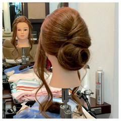 結婚式 簡単ヘアアレンジ ヘアアレンジ セミロング ヘアスタイルや髪型の写真・画像