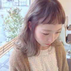 ハイライト ミディアム グラデーションカラー 外ハネ ヘアスタイルや髪型の写真・画像