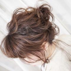 ゆるふわ ヘアアレンジ お団子 大人女子 ヘアスタイルや髪型の写真・画像