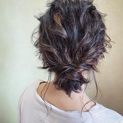 シニヨン フェミニン パーティ お呼ばれ ヘアスタイルや髪型の写真・画像