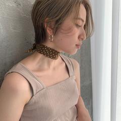 ショート ショートボブ ハンサムショート ハイトーン ヘアスタイルや髪型の写真・画像
