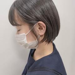 ミニボブ ショートヘア 黒髪 ナチュラル ヘアスタイルや髪型の写真・画像