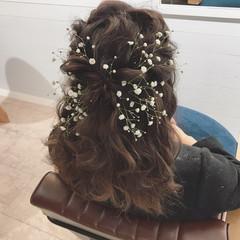 結婚式 ヘアアレンジ ナチュラル こなれ感 ヘアスタイルや髪型の写真・画像
