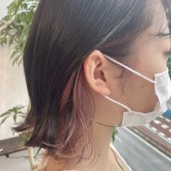 ベリーピンク ピンクアッシュ ピンク ガーリー ヘアスタイルや髪型の写真・画像