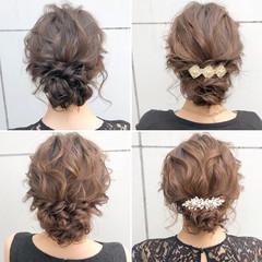 ロング デート ヘアアレンジ オフィス ヘアスタイルや髪型の写真・画像