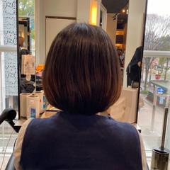 ノースタイリング ナチュラル 艶髪 内巻き ヘアスタイルや髪型の写真・画像