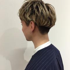 ナチュラル ショート マッシュ メンズ ヘアスタイルや髪型の写真・画像