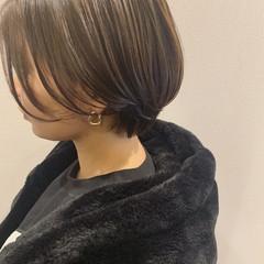 ショートボブ アッシュベージュ ショート 大人ショート ヘアスタイルや髪型の写真・画像