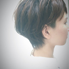 ショートボブ ショート 坊主 エアリー ヘアスタイルや髪型の写真・画像