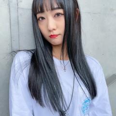 ロング 韓国 韓国風ヘアー モード ヘアスタイルや髪型の写真・画像