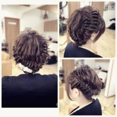 パーティ ロング ヘアアレンジ アップスタイル ヘアスタイルや髪型の写真・画像