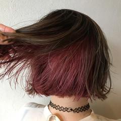 ピンクラベンダー ピンクバイオレット ラベンダーピンク ベリーピンク ヘアスタイルや髪型の写真・画像