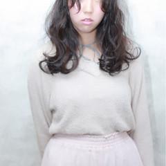外国人風 イルミナカラー セミロング パーマ ヘアスタイルや髪型の写真・画像