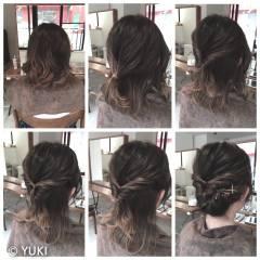 ヘアアレンジ ボブ 波ウェーブ ショート ヘアスタイルや髪型の写真・画像
