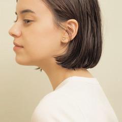 切りっぱなしボブ ミニボブ ナチュラル まとまるボブ ヘアスタイルや髪型の写真・画像