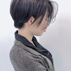 大人可愛い 黒髪 ショートボブ ショート ヘアスタイルや髪型の写真・画像