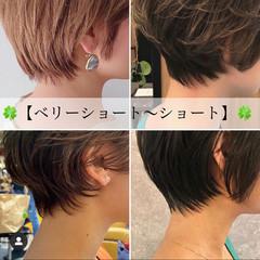 ショート 小顔ショート 耳かけ ショートヘア ヘアスタイルや髪型の写真・画像