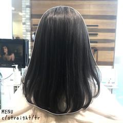 前髪 髪質改善 ミディアム ナチュラル ヘアスタイルや髪型の写真・画像