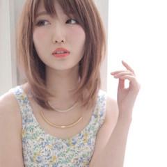 ピュア ハイライト 大人かわいい ナチュラル ヘアスタイルや髪型の写真・画像