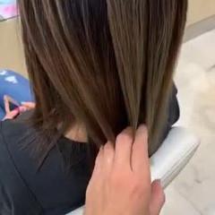 ダブルカラー ブリーチ ハイライト ブリーチオンカラー ヘアスタイルや髪型の写真・画像