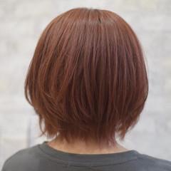 ナチュラル オフィス ヘアカラー オレンジカラー ヘアスタイルや髪型の写真・画像
