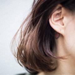 ウェットヘア ストリート 外国人風 マルサラ ヘアスタイルや髪型の写真・画像