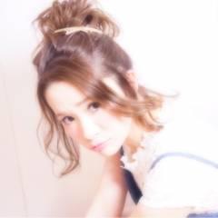 モテ髪 簡単ヘアアレンジ コンサバ ヘアアレンジ ヘアスタイルや髪型の写真・画像