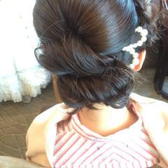 セミロング ブライダル 大人かわいい 結婚式 ヘアスタイルや髪型の写真・画像
