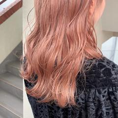 ガーリー ハイトーン ペールピンク 透明感カラー ヘアスタイルや髪型の写真・画像