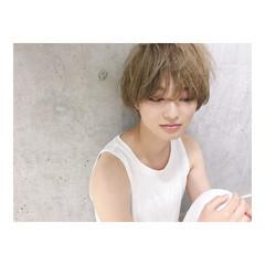 マニッシュ ショート マッシュ ナチュラル ヘアスタイルや髪型の写真・画像