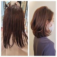 エレガント レイヤーカット 大人ミディアム セミロング ヘアスタイルや髪型の写真・画像