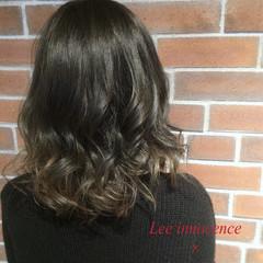 暗髪 ボブ グラデーションカラー グレージュ ヘアスタイルや髪型の写真・画像