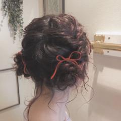 卒業式 ヘアアレンジ ガーリー ツインお団子 ヘアスタイルや髪型の写真・画像