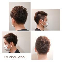 メンズカット メンズスタイル モード ツーブロック ヘアスタイルや髪型の写真・画像