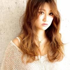 大人かわいい ガーリー 外国人風 ロング ヘアスタイルや髪型の写真・画像