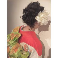 ヘアアレンジ ボブ 着物 まとめ髪 ヘアスタイルや髪型の写真・画像
