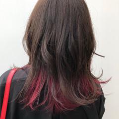 スポーツ ベリーピンク グラデーションカラー インナーカラー ヘアスタイルや髪型の写真・画像