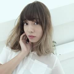 ゆるふわ モテ髪 グラデーションカラー 外国人風カラー ヘアスタイルや髪型の写真・画像