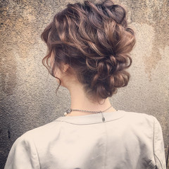 大人かわいい セミロング パーティ 外国人風 ヘアスタイルや髪型の写真・画像