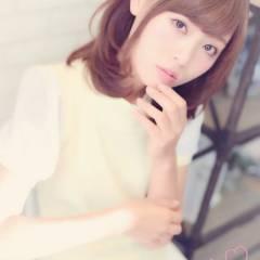 ミディアム 大人かわいい モテ髪 秋 ヘアスタイルや髪型の写真・画像