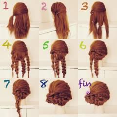 和装 ヘアアレンジ セミロング 夏 ヘアスタイルや髪型の写真・画像