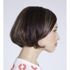 モード モテ髪 ボブ ナチュラル ヘアスタイルや髪型の写真・画像