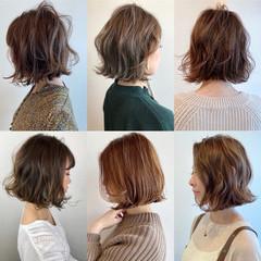 ミニボブ ボブヘアー フェミニン 切りっぱなしボブ ヘアスタイルや髪型の写真・画像