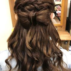 結婚式 セミロング 女子会 ヘアアレンジ ヘアスタイルや髪型の写真・画像