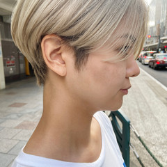 ナチュラル ミニボブ アッシュベージュ ショートヘア ヘアスタイルや髪型の写真・画像