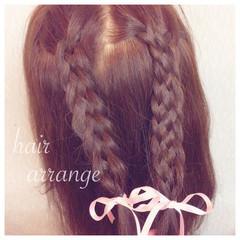 二次会 ヘアアレンジ ショート ゆるふわ ヘアスタイルや髪型の写真・画像