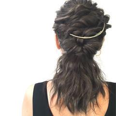 波ウェーブ ゆるふわ くるりんぱ ヘアアレンジ ヘアスタイルや髪型の写真・画像