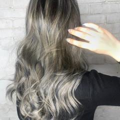 エレガント ハイライト ロング コントラストハイライト ヘアスタイルや髪型の写真・画像