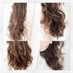 パーマ 外国人風 アッシュ ロング ヘアスタイルや髪型の写真・画像